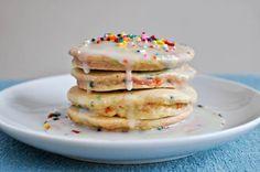 pancake cake ( le puse este nombre porque a los ninos les llama mas la atencion que si les digo que es de avena jajajja)