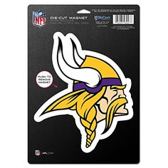 NFL Minnesota Vikings 83758013 Die Cut Logo Magnet Small Black *** Read more  at the image link.