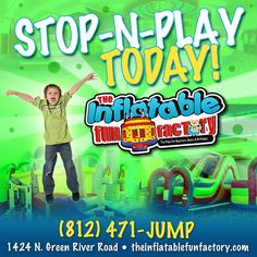 At The Inflatable Fun Factory, it's ALWAYS a great day to PLAY :)  Grab your socks, pack up the kids and come check us out for some family fun!