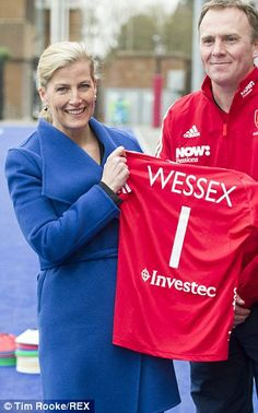 Deja vuz? Sophie's team shirt, which had 'Wessex 1' emblazoned across the  back