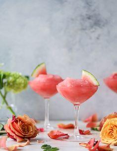 watermelon frosé I howsweeteats.com