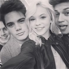 Ricky Garcia (right), Jordyn Jones (middle right), Emery Kelly (middle left), and Liam Attridge (left).