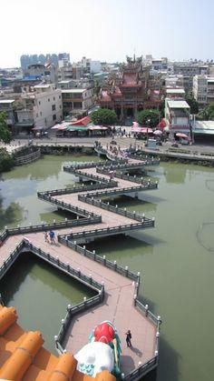 ☆Zigzag bridge~view from Dragon Tower~☆ Interesting bridge somewhere in TW
