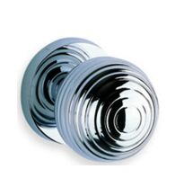 Omnia 415, Art Deco Door Knob available in satin chrome, polished brass or polished chrome