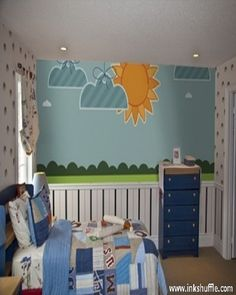 Cute and adorable children wall murals-- perfect for nursery and kids room!