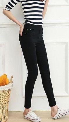 c57e6c2dbd Women s Autumn Winter Casual Skinny High-Waist Elastic Leggings