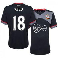 Southampton Away 16-17 Season #18 Reed Black Soccer Jersey [J253]