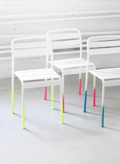 Neon Ombre Chairs DIY