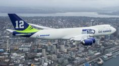 Seattle Seahawks Plane by Boeing