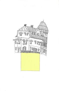 yellow house print