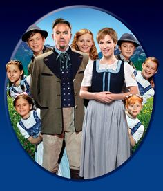 Jason Donovan as The Captain and Verity Rushworth as Maria.    The theatre version of Sound of Music.