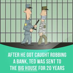 """""""Big house"""" means a high-security prison.  Example: After he got caught robbing a bank, Ted was sent to the big house for 20 years.  Get our apps for learning English: learzing.com"""