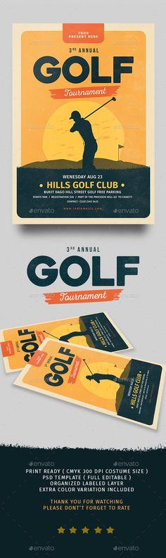 Golf Turnament Flyer