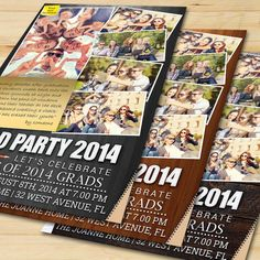 Graduation Party Invitation Card 2 by FionaCreatiiv on Etsy, $4.00