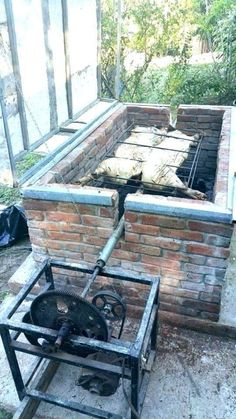 Outdoor Fire, Outdoor Living, Outdoor Decor, Brick Bbq, Grill Design, Outdoor Kitchen Design, Backyard Bbq, Bbq Grill, Outdoor Cooking