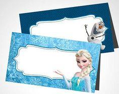 Elsa Birthday Party, Girls 3rd Birthday, Frozen Birthday Theme, Frozen Themed Birthday Party, Birthday Party Themes, Frozen Party Food, Disney Frozen Birthday, Party Food Labels, Party Printables