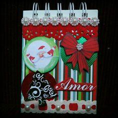 Scrap Minicaderneta, com folhas pautadas, espiral, dobro de folhas do minibloco. Temos variados tipos de papelaria personalizada. Escolha seu tema! #natal #neve #papainoel #mdf #jesus #papel #paper #papelariapersonalizada  #santaclaus#arvoredenatal #Noel #presentes #amor #love #artesanato #caderneta #agenda2014 #lembrancinhas #brazil #merrychristmas #festapersonalizada #personalizados #scrap #like #lembrancinhaspersonalizadas #cute #scrapbook #jinglebells #festarecife