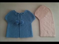You can make 3 stitch finish vest model as 3 color, not just colored as single color. It is an easy knitting model that can be used as a baby vest both as Baby Knitting Patterns, Baby Sweater Knitting Pattern, Knitting Designs, Knitting Projects, Baby Cardigan, Baby Pullover, Diy Bebe, Crochet Videos, Easy Knitting