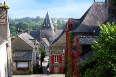 "Small town of character between Vannes and Rennes, Rochefort-en-Terre is built on a rocky outcrop overlooking the valley Gueuzon. The town is part of the "" most beautiful villages of France "". ©  Joelle Millet"