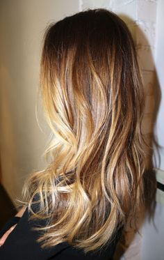 Blended beautiful highlights. Auburn Brown honey blonde coloring. Box No. 216