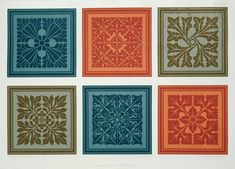 Medieval panel designs from The Practical Decorator and Ornamentalist, by George Ashdown Audsley, 1892 made by G.A. and M.A. Audsley as the highest quality fineart print to your liking. We do not sell mass-produced goods but produce custom-made masterpieces. (#160788) Medieval Pattern, Greek Pattern, Graphic Design Books, Brick Patterns, Tropical Art, Japanese Patterns, Arts And Crafts Movement, Stencil Designs, Vintage Ornaments