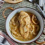 Otra opción de comida es este pollo en salsa de ajonjolí ☺