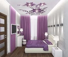 Super Bedroom Girls Romantic Home Decor Ideas Purple Bedroom Design, Purple Bedrooms, Bedroom False Ceiling Design, Bedroom Colors, Room Decor Bedroom, Bedroom Kids, Small Bedroom Interior, Small Bedroom Designs, Modern Bedroom
