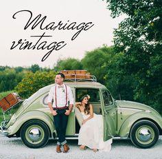 Mariage Vintage.  Tableau d'inspiration, déco, print, fleurs, et table.