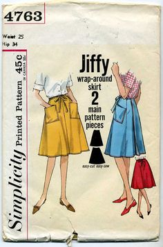 Jiffy Wrap Around 4 Gore Skirt Sewing Pattern by DebsCraftDen
