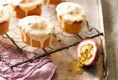 I am sure everyone has heard of blubbery or raspberry friands but passionfruit friands are out of this word.
