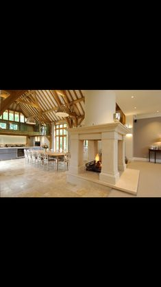 Log Burner, Fireplaces, Dream Homes, Kitchen Dining, Interiors, Mansions, Future, Architecture, House Styles