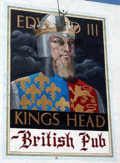 Santa Monica King's Head British Pub mural