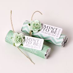 Mint green weddings! mint wedding favors, mint to be tag, personalized favors, mint green. Available at www.mintfavorsandmore.etsy.com.