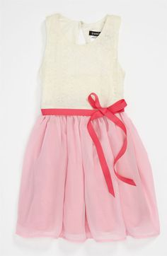 Zunie Lace Bodice Dress (Little Girls & Big Girls) available at #Nordstrom