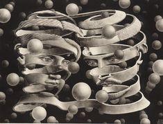 MC Escher Paintings was an artist; created each tessellation with extradorinary math skills. The MC Escher artwork continued to develop with his drawing hands art print. Op Art, Art Prints, Optical Illusions, Escher Art, Graphic Artist, Art, Lithograph, Pictures, Art History