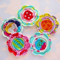 Sewn Fabric Flowers | Sewn fabric flower embellishments with… | Flickr