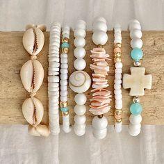 beachy mermaid bracelets shells boho style sea gypsy bohemian jewelry driftwood handmade beachcomber by beachcombershop on Etsy #etsyJewelry