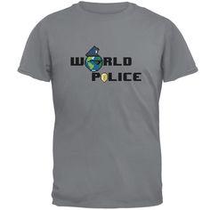 World Police Gravel Grey Adult T-Shirt