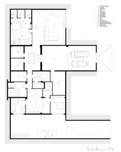 B House,Basament Floor Plan