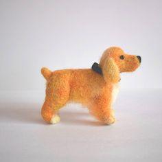 Cocker Spaniel Inglés dog  needle felted dog  Custom needle