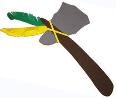 Fiche expliquée pour faire tomahawk d'indien pour le déguisement. Une idée facile de bricolage pour réaliser un tomahawk, une arme de chef…