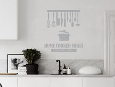 Home Cooked Meals Served Daily Decal | Kitchen Wall Quote   Aspect Wall Art