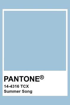 Azul Pantone, Pantone Tcx, Pantone Blue, Pantone Cmyk, Pantone Color Chart, Pantone Colour Palettes, Colour Pallete, Color Azul, Summer Songs