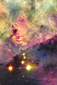 Yellow, Pink and Purple Nebula