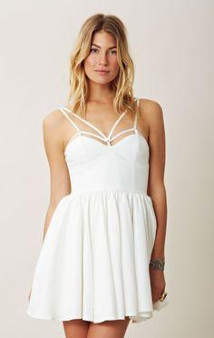 pretty summer ivory dress
