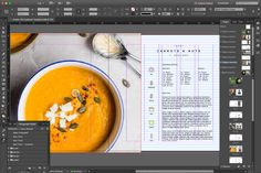 It is a free template with a professional design of a recipe book for InDesign with 6 different layouts where the position of texts, images and icons vary. Book Design Templates, Recipe Book Templates, Cookbook Template, Layout Template, Cookbook Ideas, Cookbook Cover Design, Recipe Book Design, Modern Cookbooks, Book Design Layout