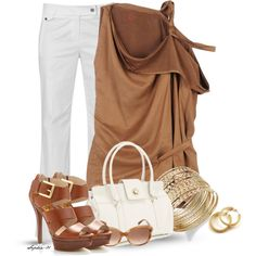 A fashion look from June 2013 featuring A.F. Vandevorst tops, Raxevsky pants y MICHAEL Michael Kors sandals. Browse and shop related looks.