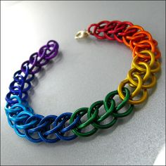 Hey, I found this really awesome Etsy listing at http://www.etsy.com/listing/100003192/chainmaille-bracelet-rainbow-stripes