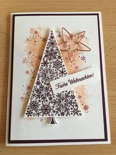 Christmas Cards 2018, Stampin Up Christmas, Xmas Cards, Snowflake Cards, Snowflakes, Stampin Up Weihnachten, Winter Christmas, Holiday, Pretty Cards