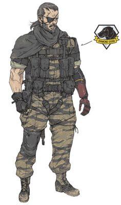 MGSV Big Boss concept by Yoji Shinkawa